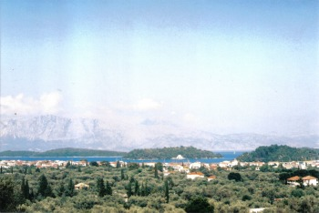 View of Nidri from Joanna Watters course location