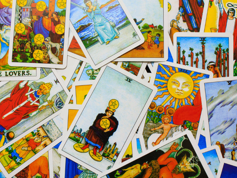 Tarot cards for Talking Tarot beginners course